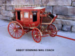 Model of Abbott Downing Mail Coach