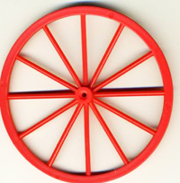 Plastic-red-wheel